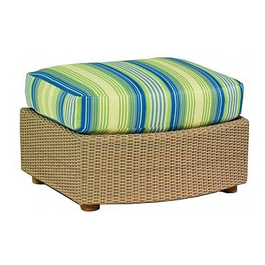 Woodard Oasis Ottoman w/ Cushion; Paris Blush