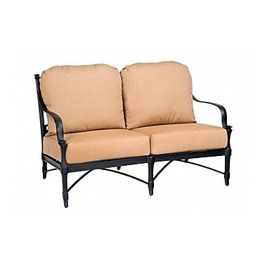 Woodard Isla Loveseat w/ Cushions; Paris Honeydew