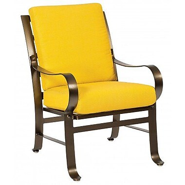 Woodard Cascade Patio Dining Chair w/ Cushion; Paris Honeydew