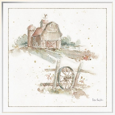 East Urban Home 'Farm Friends XV' Framed Print; 30'' H x 30'' W