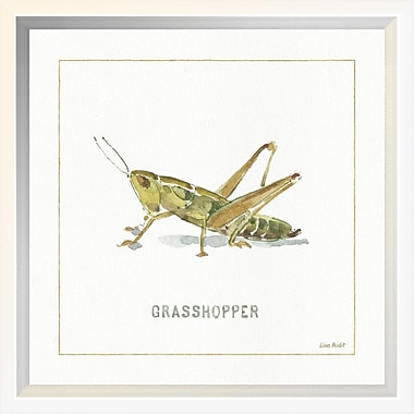 East Urban Home 'My Greenhouse Grasshopper' Framed Print; 10'' H x 10'' W