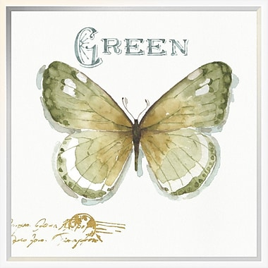 East Urban Home 'My Greenhouse Butterflies IV' Framed Graphic Art Print; 18'' H x 18'' W