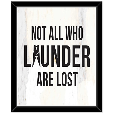 East Urban Home 'Launder 4' Framed Textual Art on Canvas