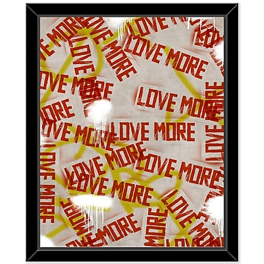 East Urban Home 'Love More 2' Framed Textual Art on Glass
