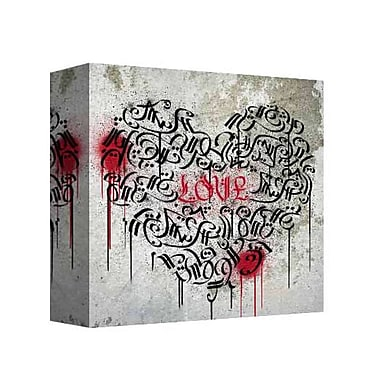 East Urban Home 'Graffiti Love 2' Graphic Art Print on Canvas