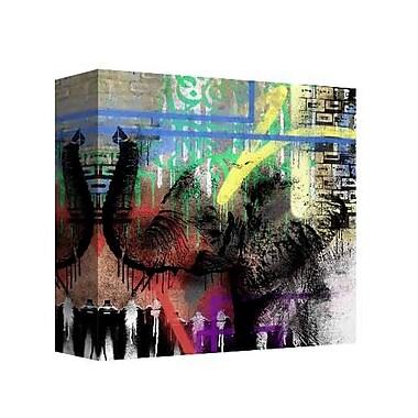 East Urban Home 'Neon Animal' Rectangle Graphic Art Print on Canvas