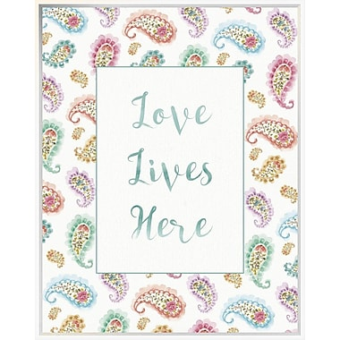 East Urban Home 'Rainbow Seeds Love Lives' Framed Textual Art; 35'' H x 28'' W