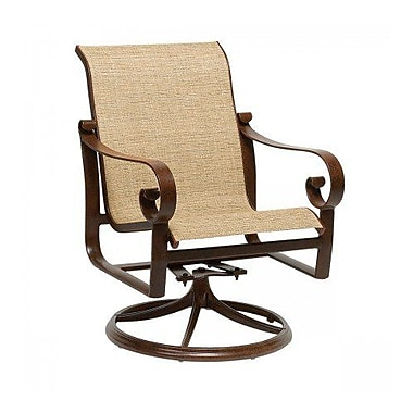 Woodard Belden Sling Swivel Rocking Chair; Augustine Pear