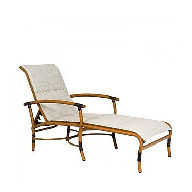 Woodard Glade Isle Padded Sling Adjustable Chaise Lounge; Caramel