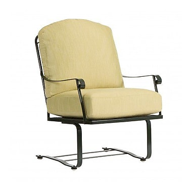 Woodard Fullerton Spring Patio Chair w/ Cushions; Brisa Distressed Charcoal