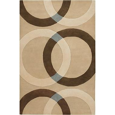 Ebern Designs Altamirano Tan Area Rug; Round 7'9''