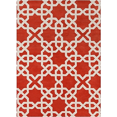 Everly Quinn Nikisha Moroccan Area Rug; 5' x 7'