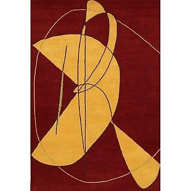 Ebern Designs Krysta Contemporary Wool Rug; 7'9'' x 10'6''