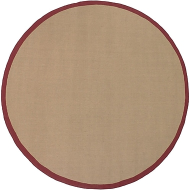 Longshore Tides Eastwood Red/Tan Area Rug; 9' x 13'