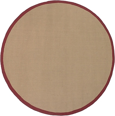 Longshore Tides Eastwood Red/Tan Area Rug; 5' x 8'