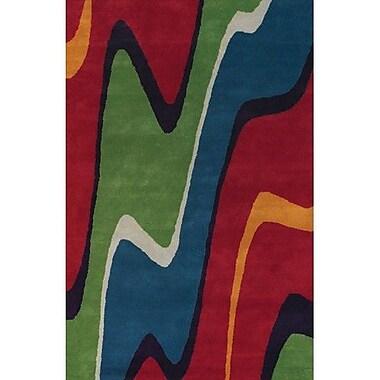 Latitude Run Stickel Hand Woven Red/Green Area Rug; 7'9'' x 10'6''