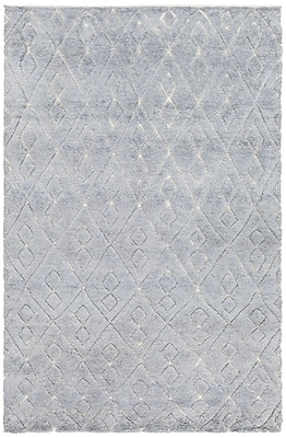 Foundry Select Alland Hand-Knotted Blue Area Rug; 7'9'' x 10'6''