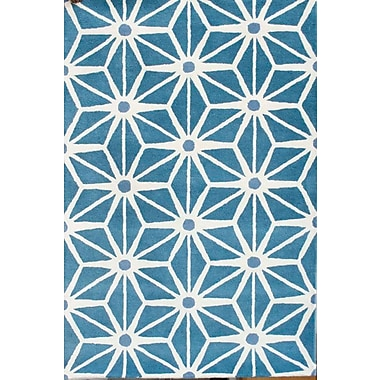 Latitude Run Steward Blue Area Rug; 7' x 10'
