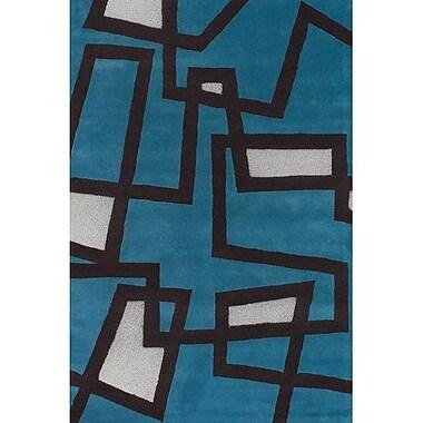Latitude Run Stickel Blue/White Area Rug; 7'9'' x 10'6''