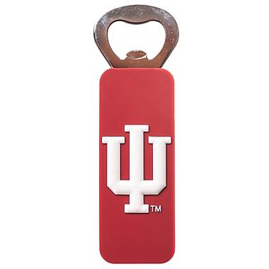 JWInternationalImportsLTD NCAA PVC Magnetic Bottle Opener; Indiana University, Bloomington