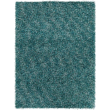 Latitude Run Stickland Textured Shag Blue Area Rug; 9' x 13'