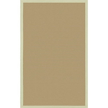 Longshore Tides Eastwood Green/Tan Area Rug; Round 7'9''