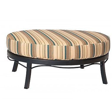 Woodard Cortland Ottoman w/ Cushion; Paris Honeydew