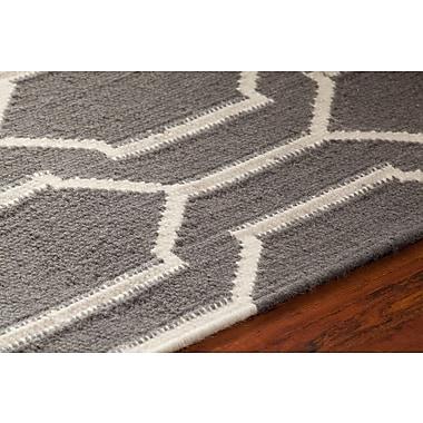Brayden Studio Centeno Patterned Gray/White Area Rug; 5' x 7'6''