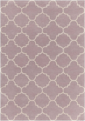 Mercer41 Electra Patterned Contemporary Wool Purple Area Rug; 5' x 7'
