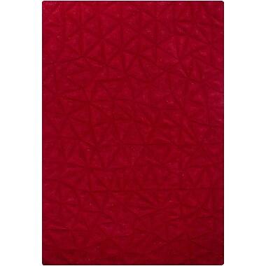 Orren Ellis Cooley Red Solid Area Rug; 5'3'' x 7'7''