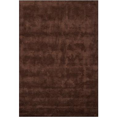 Red Barrel Studio Tomica Brown Solid Area Rug; 5'3'' x 7'7''