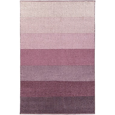 Red Barrel Studio Faynett Hand-Woven Purple Area Rug; 5' x 7'6''