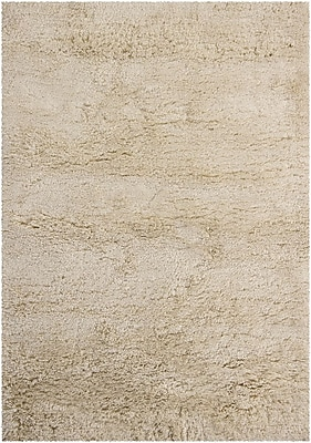 Williston Forge Issac Shag Cream Area Rug; Rectangle 7'9'' x 10'6''