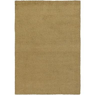 Winston Porter Barnaby Gold Rug; Rectangle 2' x 3'