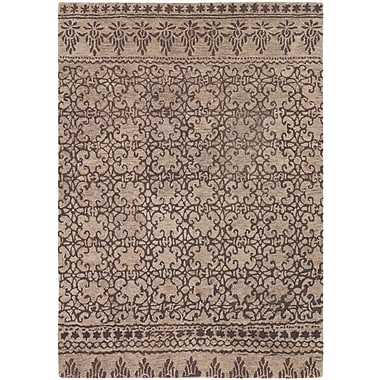 Bungalow Rose Atascadero Patterned Contemporary Wool Brown Area Rug; 5' x 7'6''