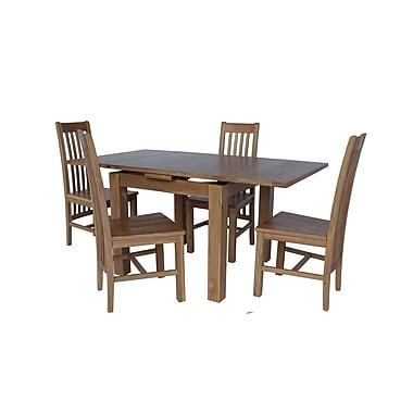 Loon Peak Covarrubias Solid Wood Dining Chair (Set of 2); Light Dark Oak