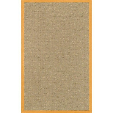 Longshore Tides Eastwood Orange/Tan Area Rug; Round 7'9''