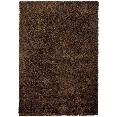Loon Peak Lively Brown/Tan Area Rug; 9' x 13'