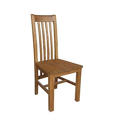 Loon Peak Covarrubias Solid Wood Dining Chair (Set of 2); Golden Oak