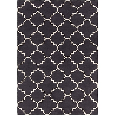 Mercer41 Electra Patterned Contemporary Wool Charcoal Area Rug; 5' x 7'