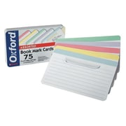 "Oxford™ Bookmark Index Cards, Ruled, 3"" x 5"", White, 15/Pack (10014)"