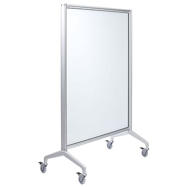Egan Visual V-Series Single Panel Mobile with 4 Point Base, White, 60x60 (VSF6060EE)
