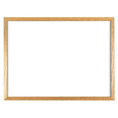 Staples® Economy Dry-Erase Board, Solid Oak Frame, 36\