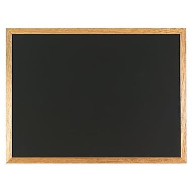 Staples® - Tableau noir, cadre en chêne, 24 po x 18 po
