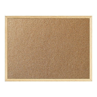 Staples Cork Board, Oak Frame, 48