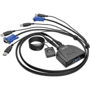 Tripp Lite 2-Port USB/VGA Cable KVM Switch with Cables and USB Peripheral Sharing (B032-VU2)