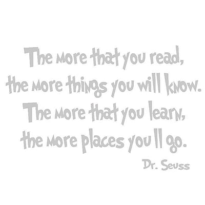 VWAQ Dr Seuss You Have Brains in Your Head Wall Decal; Silver