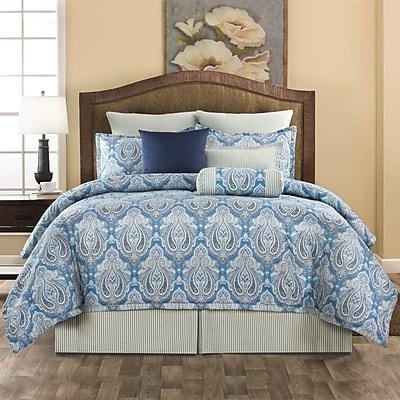 Alcott Hill Bluffview 100pct Cotton 4 Piece Comforter Set; Queen