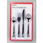 Home Basics 16-Piece Stainless Steel Flatware Set