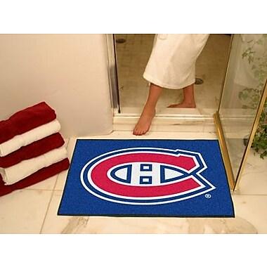 Fanmats – Tapis de sol à motif des Canadiens de Montréal sous licence officielle, 34 po x 43 po, bleu (F0010403)